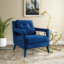 Load image into Gallery viewer, Premise Accent Lounge Performance Velvet Armchair