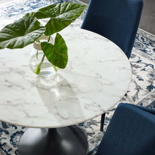 "Load image into Gallery viewer, Lippa 36"" Round Artificial Marble Dining Table"