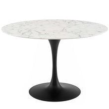"Load image into Gallery viewer, Lippa 47"" Round Artificial Marble Dining Table"