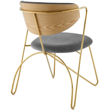 Load image into Gallery viewer, Prevail Gold Stainless Steel Dining and Accent Performance Velvet Chair
