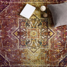 Load image into Gallery viewer, Success Kaede Transitional Distressed Vintage Floral Persian Medallion 5x8 Area Rug