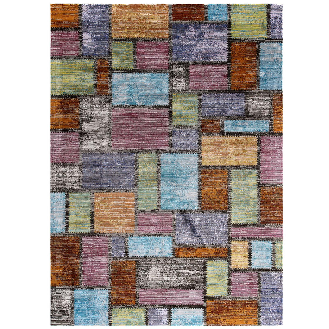 Success Nyssa Abstract Geometric Mosaic 4x6 Area Rug