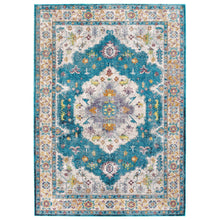 Load image into Gallery viewer, Success Anisah Distressed Floral Persian Medallion 5x8 Area Rug
