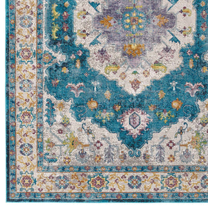 Success Anisah Distressed Floral Persian Medallion 8x10 Area Rug