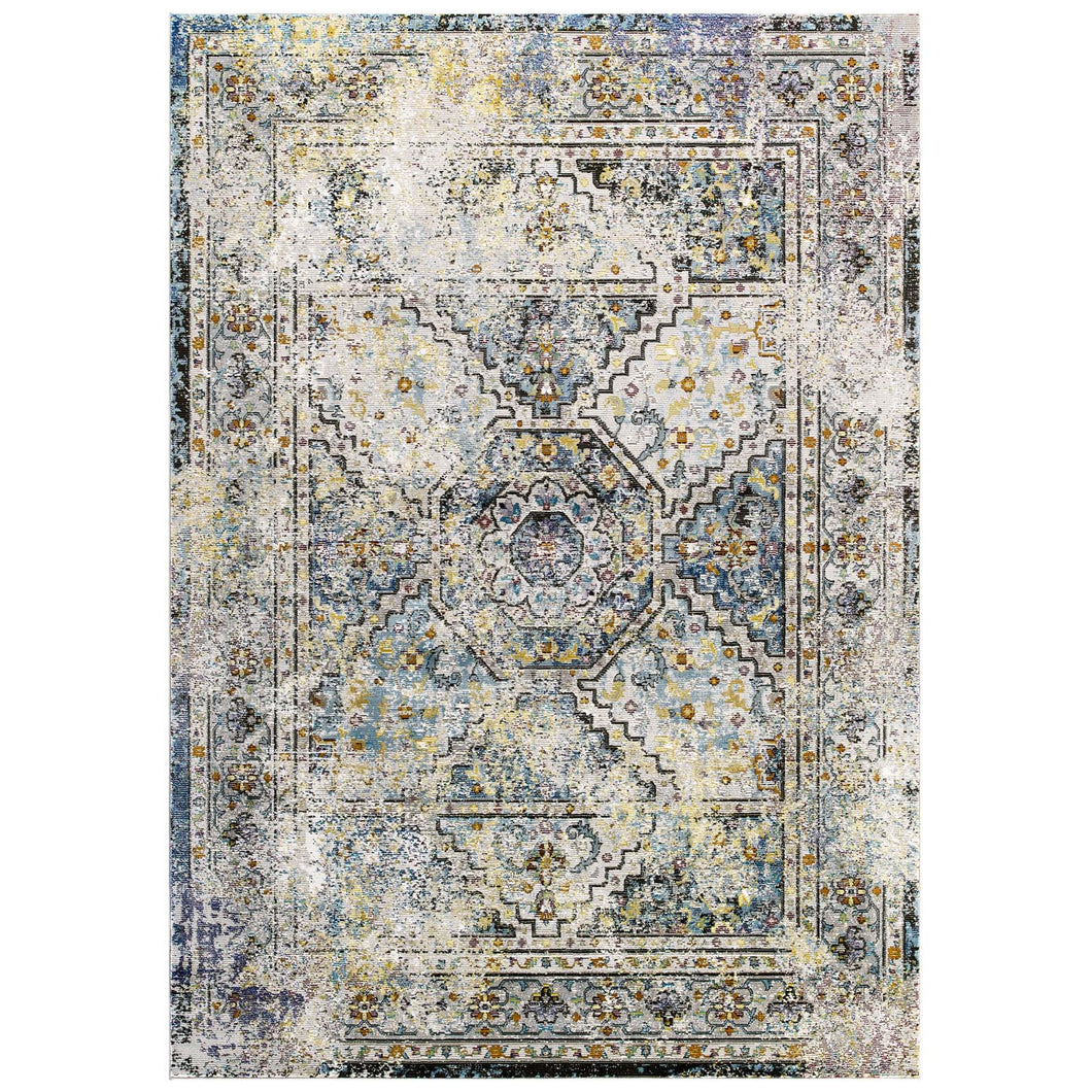 Success Jacinda Distressed Vintage Floral Persian Medallion 5x8 Area Rug