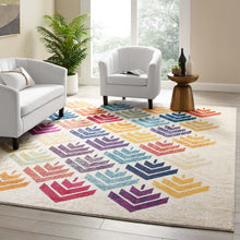 Load image into Gallery viewer, Entourage Florin Abstract Floral 8x10 Area Rug