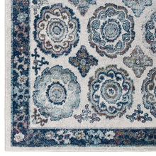 Load image into Gallery viewer, Entourage Odile Distressed Floral Moroccan Trellis 8x10 Area Rug