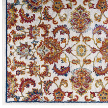 Load image into Gallery viewer, Entourage Azami Distressed Vintage Floral Lattice 5x8 Area Rug