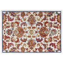 Load image into Gallery viewer, Entourage Azami Distressed Vintage Floral Lattice 8x10 Area Rug