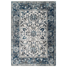 Load image into Gallery viewer, Entourage Samira Distressed Vintage Floral Persian Medallion 8x10 Area Rug