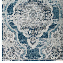 Load image into Gallery viewer, Entourage Malia Distressed Vintage Floral Persian Medallion 5x8 Area Rug