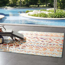 Load image into Gallery viewer, Reflect Tamako Diamond and Chevron Moroccan Trellis 8x10 Indoor / Outdoor Area Rug