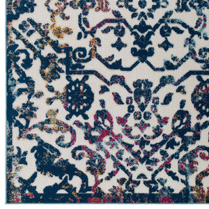Reflect Primrose Ornate Floral Lattice 5x8 Indoor/Outdoor Area Rug