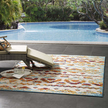Load image into Gallery viewer, Reflect Takara Abstract Diamond Moroccan Trellis 5x8 Indoor and Outdoor Area Rug