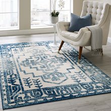 Load image into Gallery viewer, Reflect Nyssa Distressed Geometric Southwestern Aztec 5x8 Indoor/Outdoor Area Rug