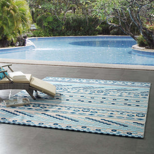 Reflect Cadhla Vintage Abstract Geometric Lattice 8x10 Indoor and Outdoor Area Rug