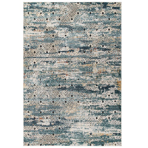 Tribute Eisley Rustic Distressed Transitional Diamond Lattice 5x8 Area Rug