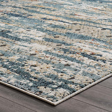 Load image into Gallery viewer, Tribute Eisley Rustic Distressed Transitional Diamond Lattice 5x8 Area Rug