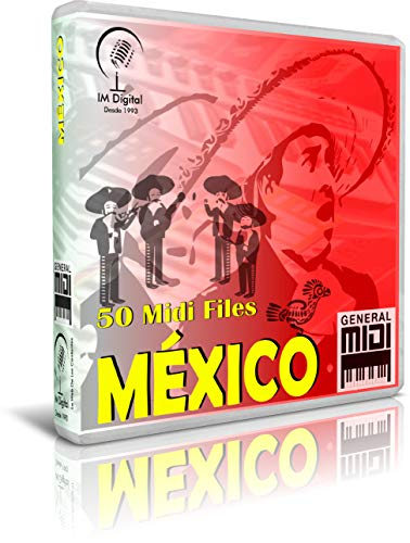 México - Pendrive USB OTG Para Teclados Midi, PC, Móvil, Tablet, Módulo o Reproductor MIDI que utilices - Contiene 50 MIDI FILES De Canciones Mexicanas - General Midi - Midis - Flash Drive Memory Stick