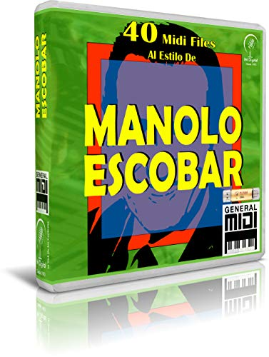 Manolo Escobar - Pendrive USB OTG Para Teclados Midi, PC, Móvil, Tablet, Módulo o Reproductor MIDI que utilices - Contiene 40 MIDI FILES Al Estilo de Manolo Escobar - General Midi - Midis - Flash Drive Memory Stick