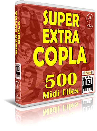 SUPER EXTRA COPLA - 500 Midi Files - Pendrive USB OTG Para Teclados Midi, PC, Móvil, Tablet, Módulo o Reproductor MIDI que utilices - Contiene 500 MIDI FILES de Copla - General Midi - Midis - Flash Drive Memory Stick