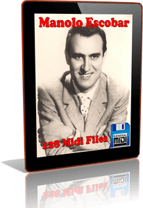 Descarga Digital de 128 MIDI FILES Al Estilo de MANOLO ESCOBAR 13 en Formato MIDI