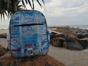 Upcycled Waterproof Back Pack