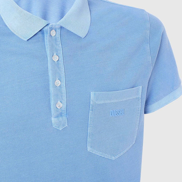 Diesel T-Kal-2 Acid-Wash Polo/Golf Shirt 00S6CR-0SAXZ-8DH
