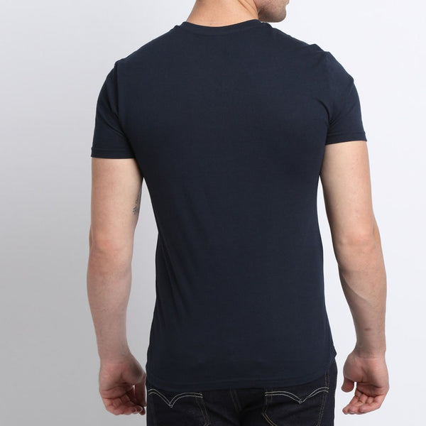 V-Neck Stretch Cotton T-Shirt