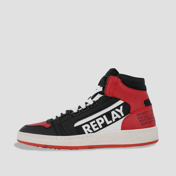 Replay Hurdle Mid Cut Sneakers