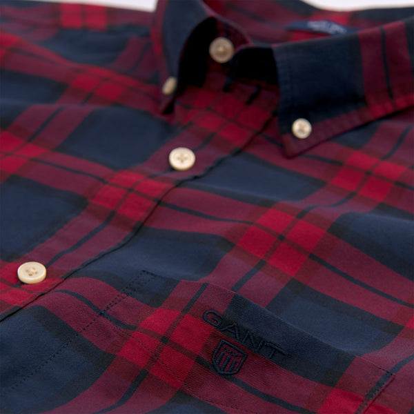 Gant-Blackwatch Check Shirt Winter Wine 3011330-621-Shirt-32750000021A05