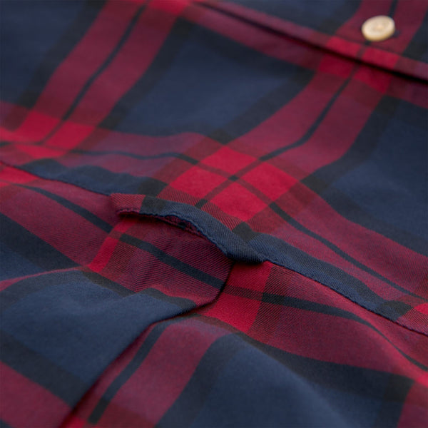 Gant-Blackwatch Check Shirt Winter Wine 3011330-621-Shirt-32750000021A06