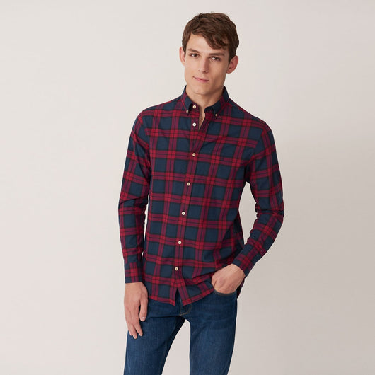 GANT Blackwatch Check Shirt Winter Wine 3011330-621