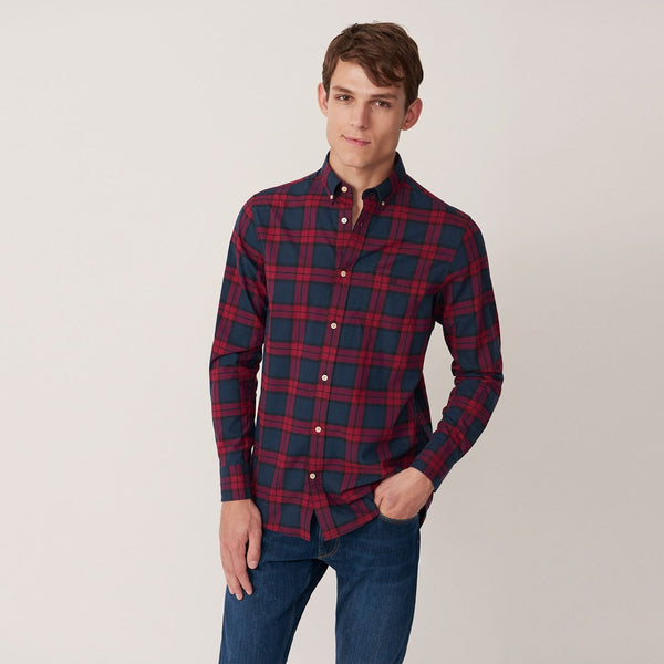 Gant-Blackwatch Check Shirt Winter Wine 3011330-621-Shirt-32750000021A03