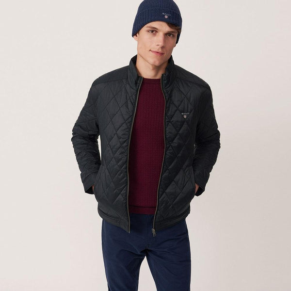 Gant-Quilted Windcheater Black 32581402-Jacket-32581402002A03