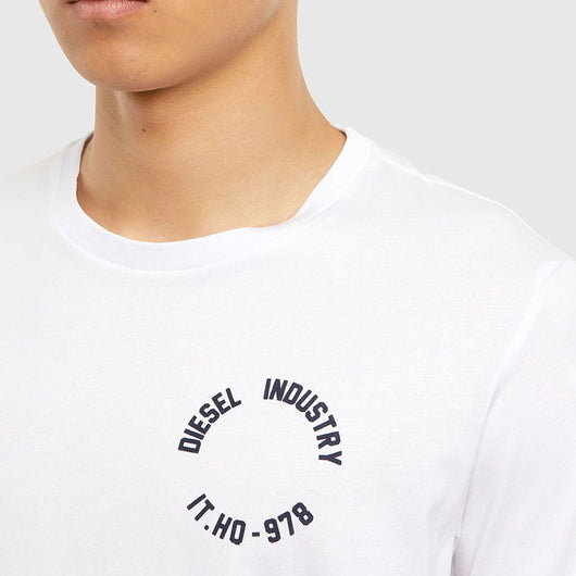 Diesel T-Diegoes-N26 T-Shirt with Flocked Print A01062-0HAYU-100
