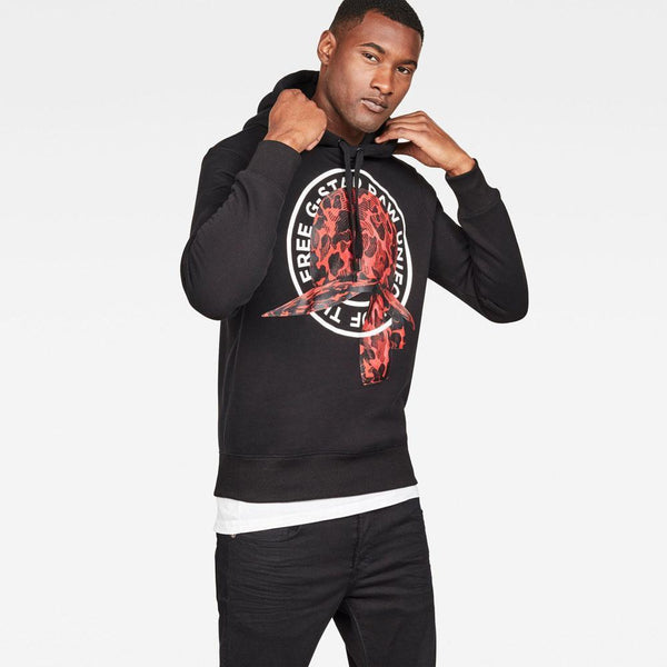 G-Star Raw-Graphic 30 Core Hooded Sweat D13273-B147-6484-Hoodie-D13273002A02