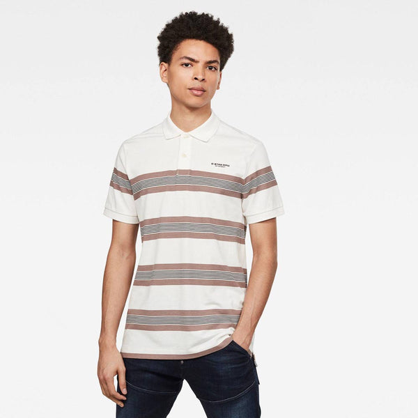 G-Star Raw Stainlo Stripe Allover Polo/Golfer - 3rd Base Urban