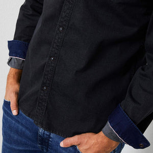 Petrol Industries Denim-Look Shirt M-3000-SIL4090-9073