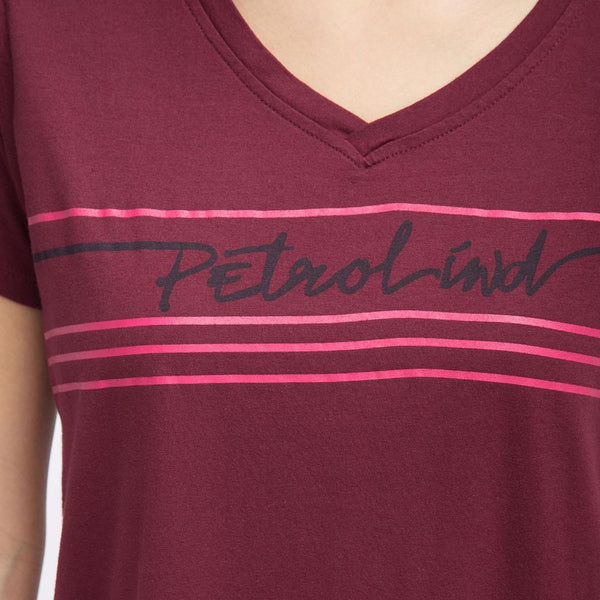 Petrol industries Branded V-Neck Top - 3rd Base Urban