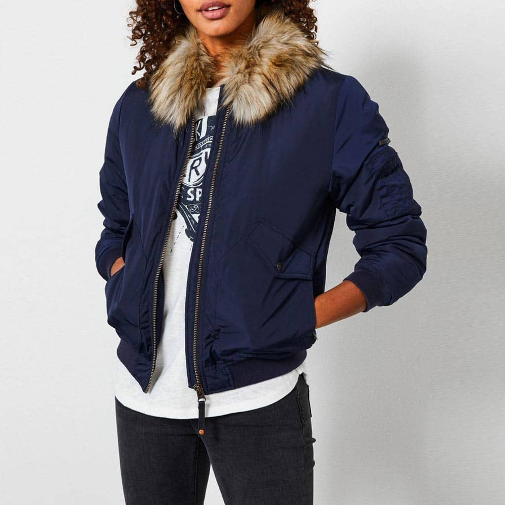 Petrol Industries Hooded Bomber Jacket