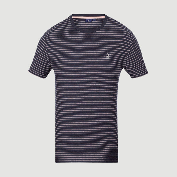 Polo-Classic Stripe Crew Neck-T-Shirt-P0100281016A03