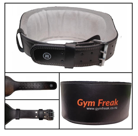 "6"" Leather Weight Lifting Belt - Gym Freak Supplements"