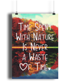 Time Spent With Nature - A4 Fine Art Bamboo Print Vertical