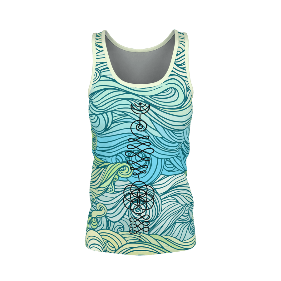 Green Wave Unalome Recycled Tank