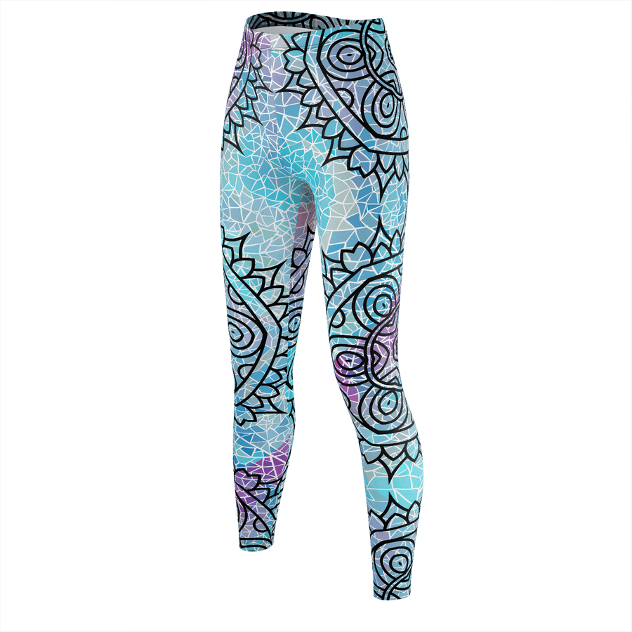 Fractured Mandala Recycled Leggings