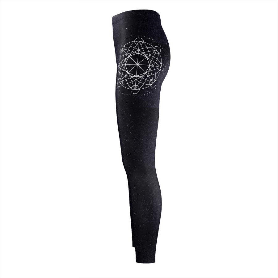 Mystic Geometry Unalome Recycled Polyester Leggings