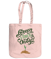 Green Vibes Only EarthAware Organic Spring Tote - pastel pink