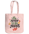 Be Kind To The Planet EarthAware Organic Spring Tote - pastel pink