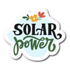 Solar Power Die Cut Vinyl Sticker